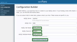 XenForo configuration builder