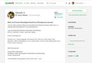 freelance php programmer Upwork